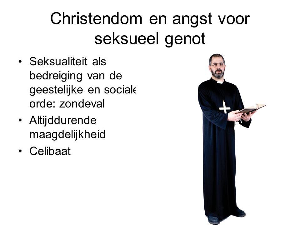 Christendom en angst voor seksueel genot Bedreiging orde Maagdelijkheid Celibaat Verbod op anti- conceptie
