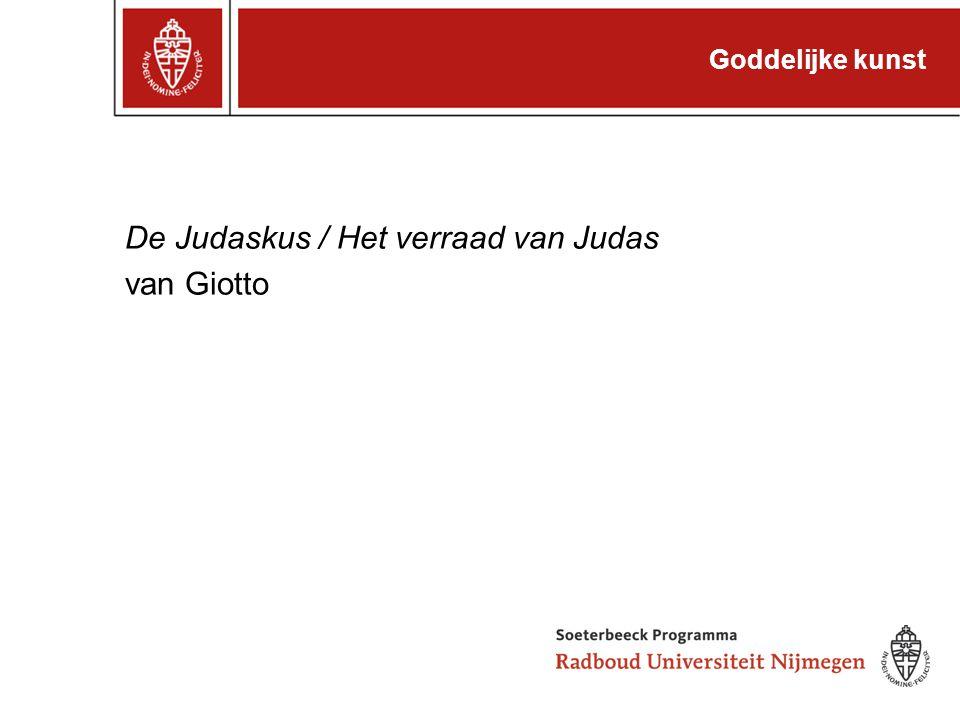 Goddelijke kunst De Judaskus / Het verraad van Judas van Giotto