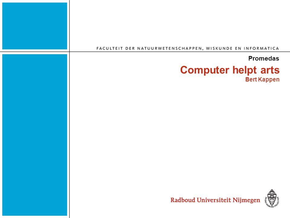 Computer helpt arts Bert Kappen Promedas
