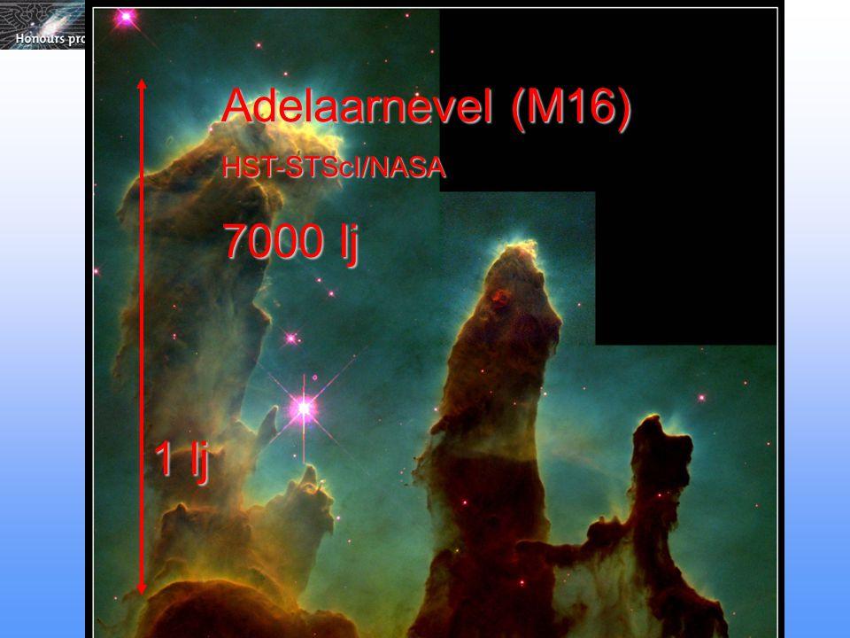 Adelaarnevel (M16) HST-STScI/NASA 7000 lj 1 lj