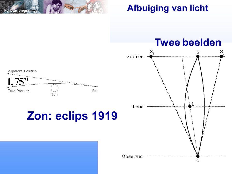 Afbuiging van licht Zon: eclips 1919 Twee beelden