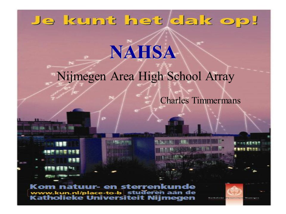 NAHSA Nijmegen Area High School Array Charles Timmermans
