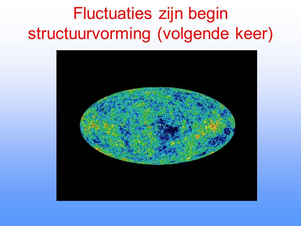 Fluctuaties zijn begin structuurvorming (volgende keer)