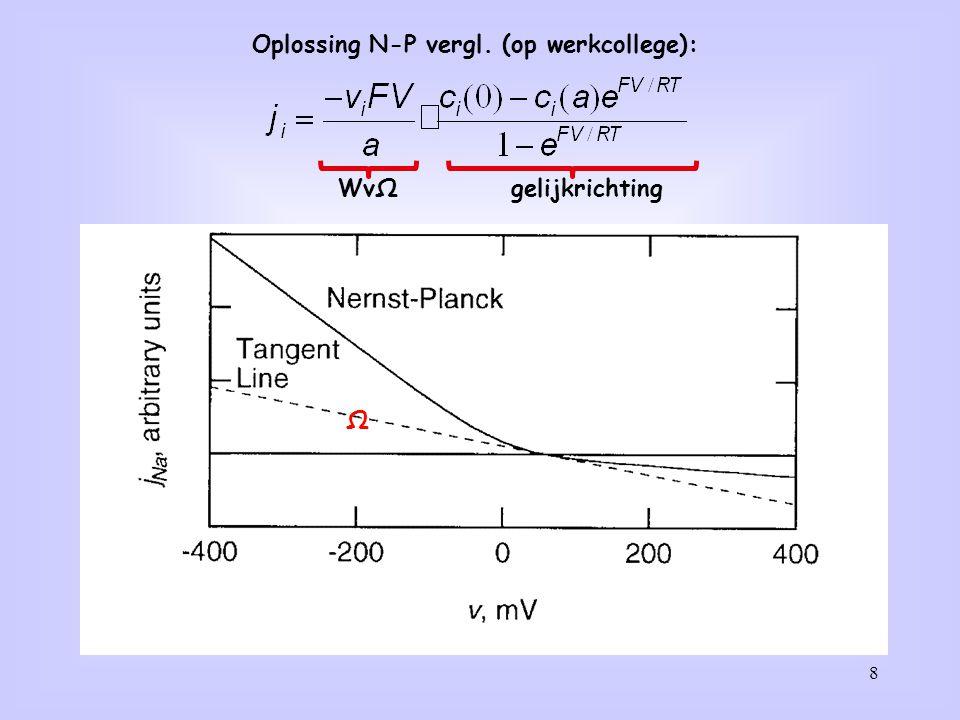 8 Oplossing N-P vergl. (op werkcollege): WvΩgelijkrichting Ω