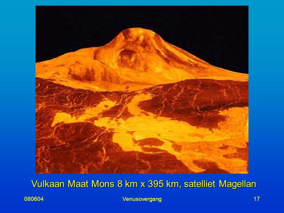 080604Venusovergang17 Vulkaan Maat Mons 8 km x 395 km, satelliet Magellan