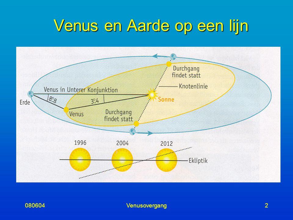 080604Venusovergang2 Venus en Aarde op een lijn