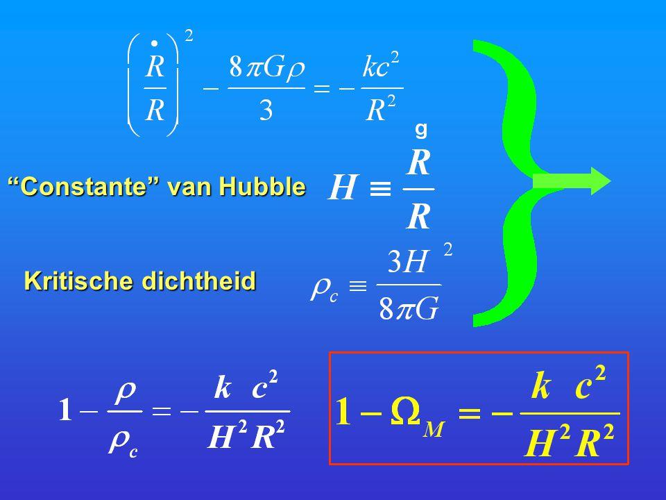 Constante van Hubble Kritische dichtheid