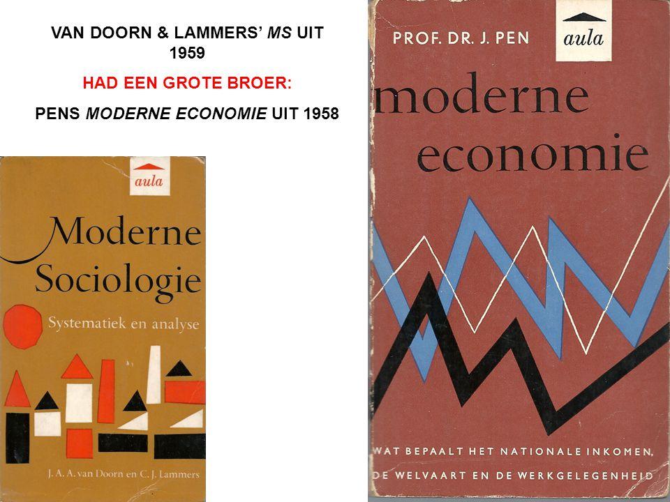 VAN DOORN & LAMMERS' MS UIT 1959 HAD EEN GROTE BROER: PENS MODERNE ECONOMIE UIT 1958