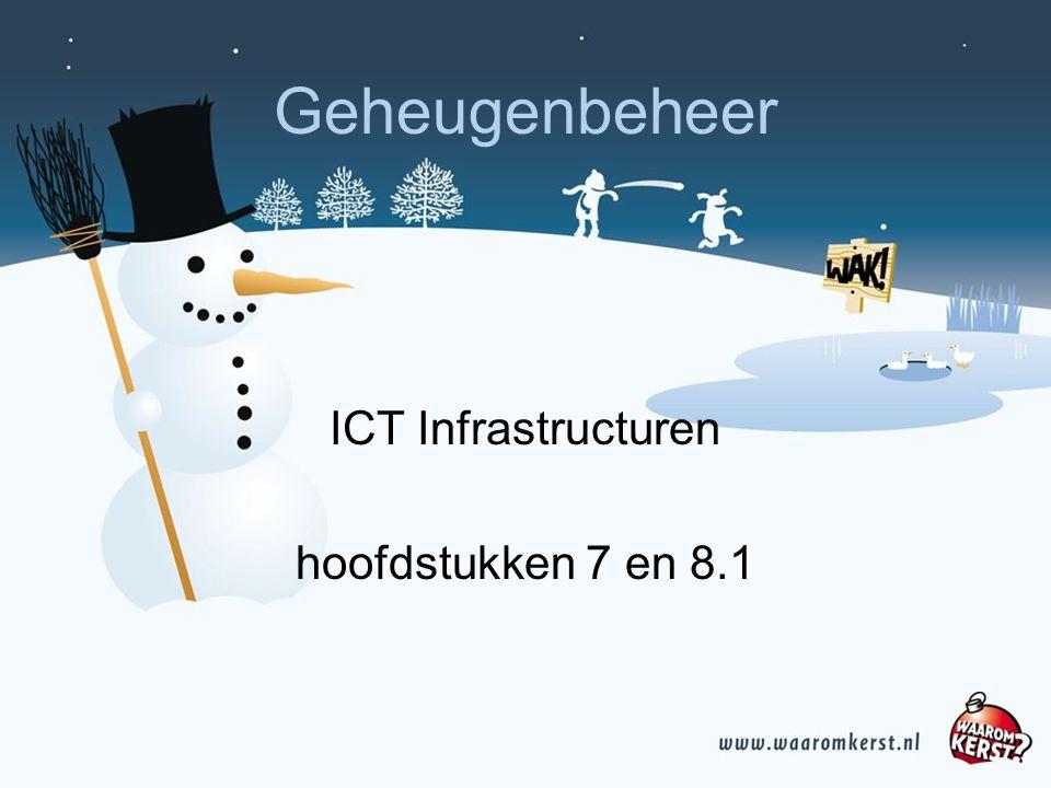 Geheugenbeheer ICT Infrastructuren hoofdstukken 7 en 8.1