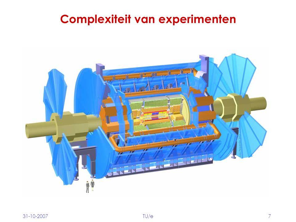 31-10-2007TU/e7 Complexiteit van experimenten