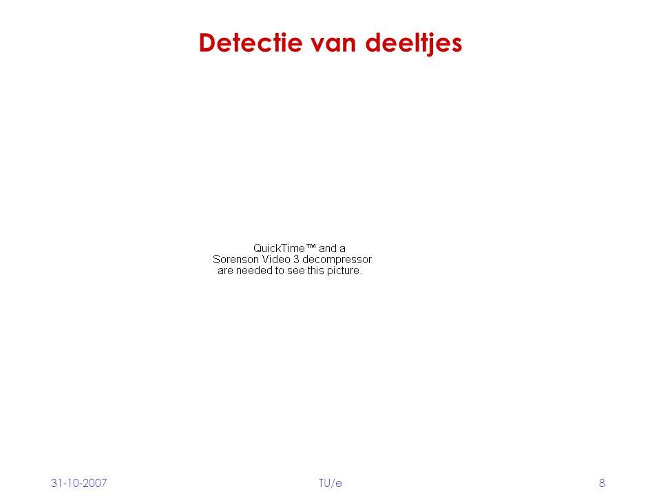31-10-2007TU/e8 Detectie van deeltjes