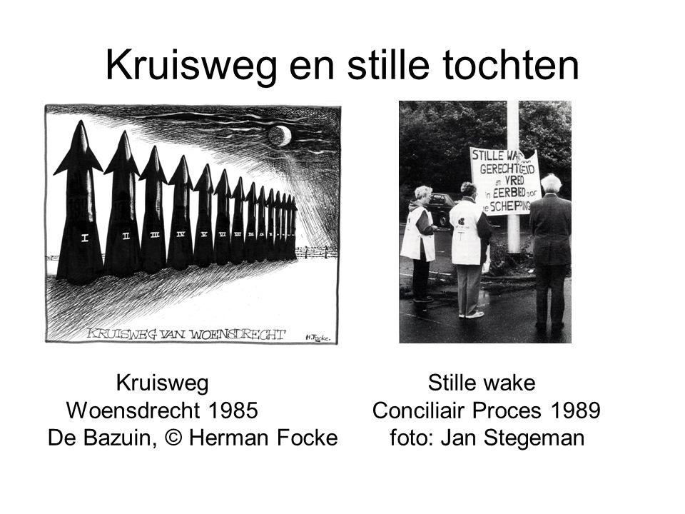 Kruisweg en stille tochten Kruisweg Stille wake Woensdrecht 1985 Conciliair Proces 1989 De Bazuin, © Herman Fockefoto: Jan Stegeman