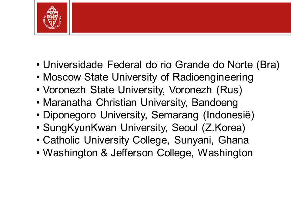 Universidade Federal do rio Grande do Norte (Bra) Moscow State University of Radioengineering Voronezh State University, Voronezh (Rus) Maranatha Chri