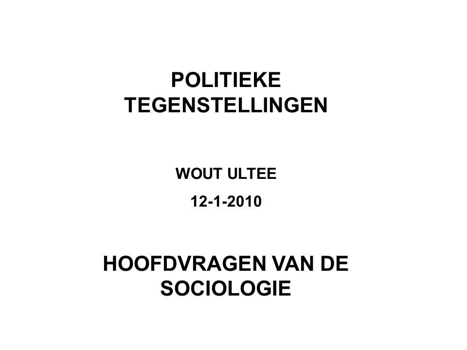 In Nederland is het verband tussen klasse en al dan niet links stemmen Veel zwakker dan het verband tussen religie en het al dan niet confessioneel stemmen De religieus-politieke tegenstellingen zijn in Nederland sterker dan de sociaal-politieke tegenstellingen