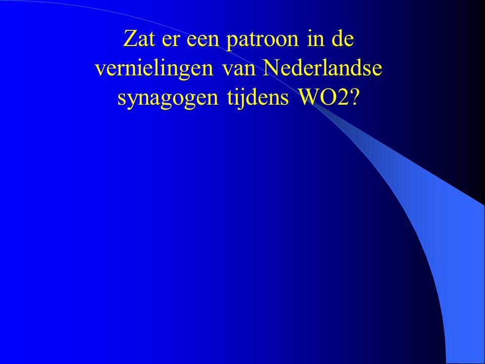 Zat er een patroon in de vernielingen van Nederlandse synagogen tijdens WO2