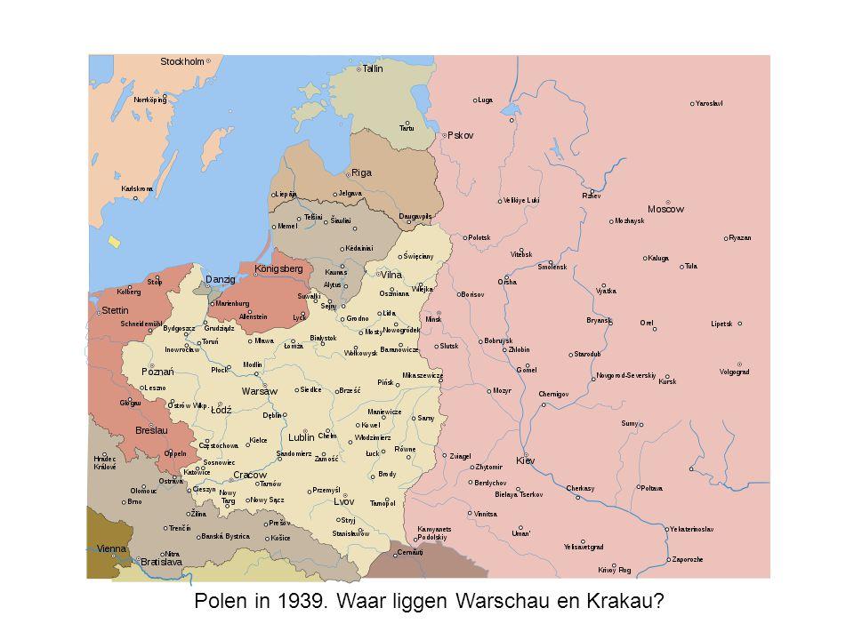 Polen in 1939. Waar liggen Warschau en Krakau
