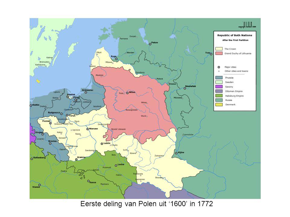 Eerste deling van Polen uit '1600' in 1772