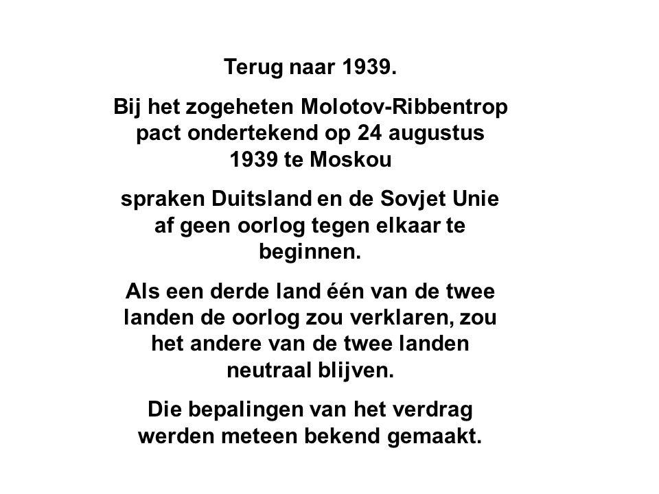 Terug naar 1939.
