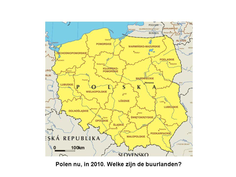 De grenzen van Polen in 1947. Waar liggen Warschau en Krakow? De buurlanden waren anders!