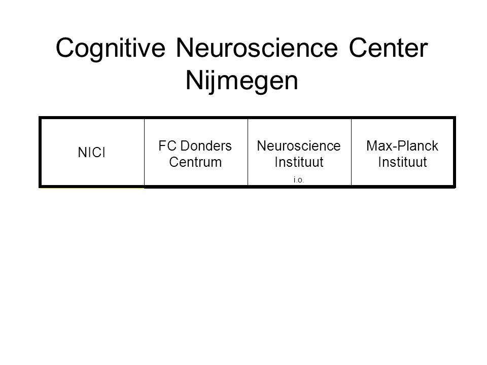 Cognitive Neuroscience Center Nijmegen NICI FC Donders Centrum Neuroscience Instituut i.o. Max-Planck Instituut