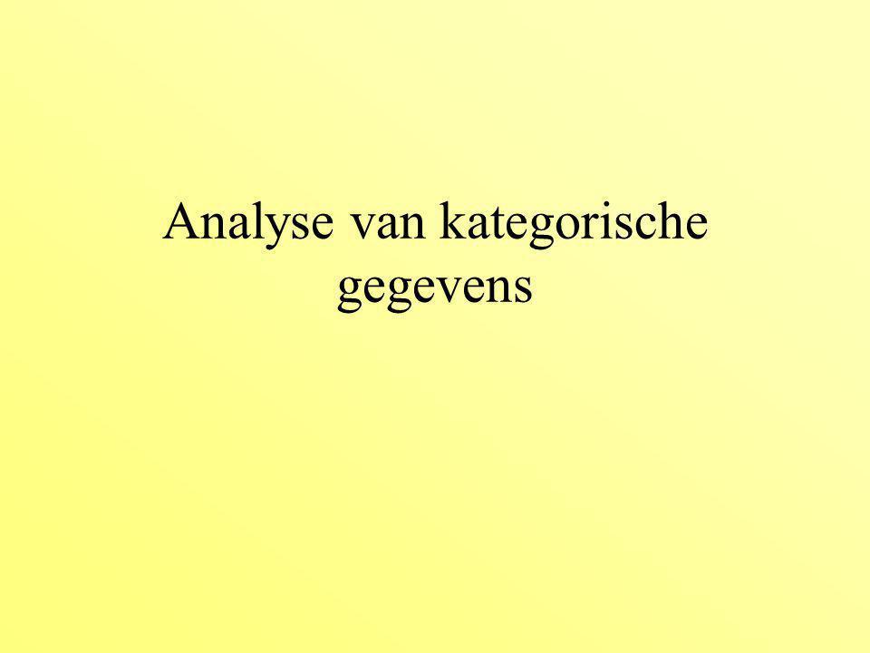 tot nu toe: respons variables continu –grootte –aantal nakomelingen,..