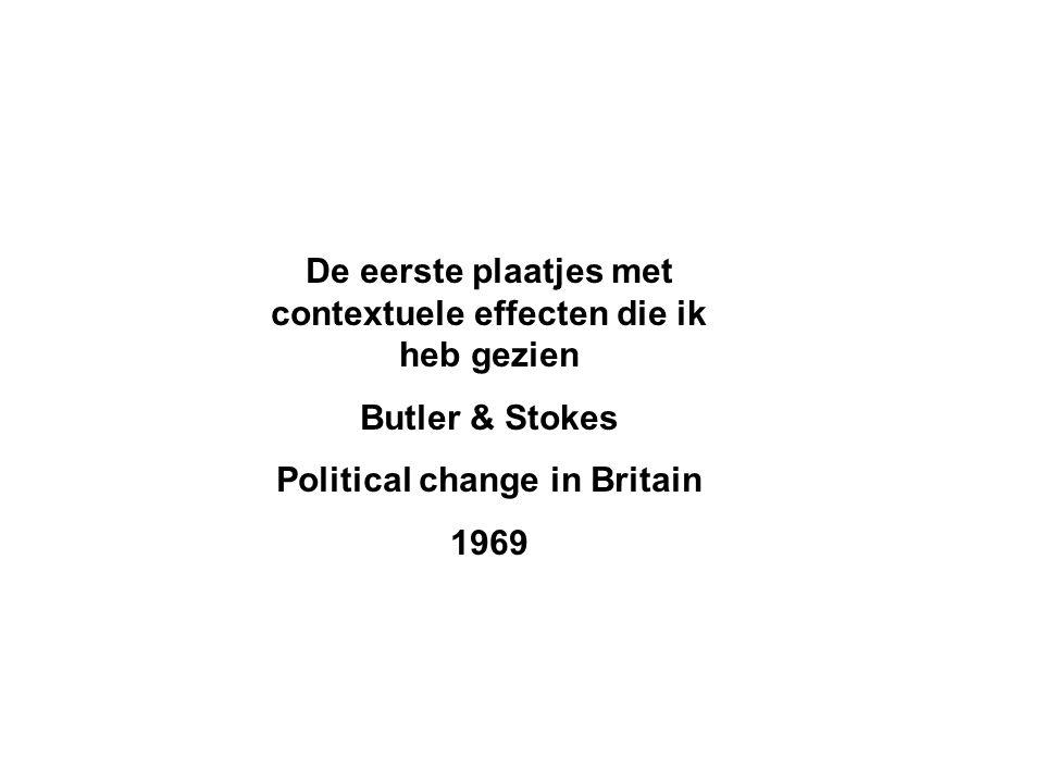 De eerste plaatjes met contextuele effecten die ik heb gezien Butler & Stokes Political change in Britain 1969