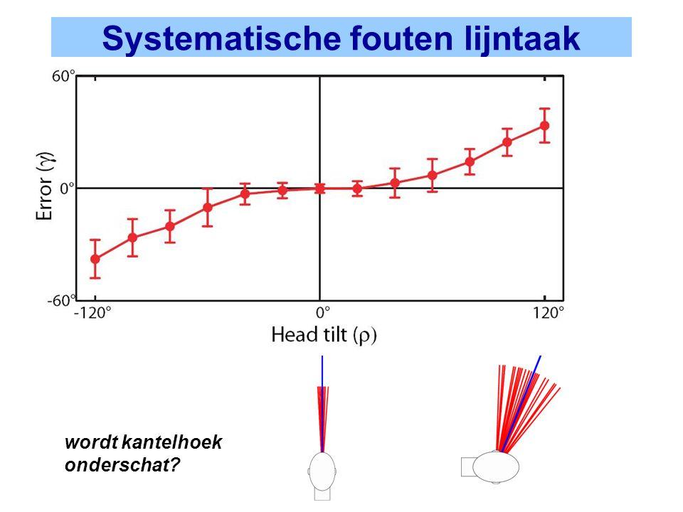 Systematische fouten lijntaak wordt kantelhoek onderschat?