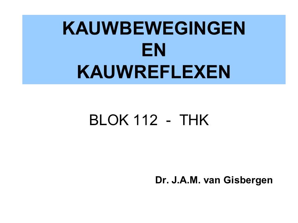 KAUWBEWEGINGEN EN KAUWREFLEXEN BLOK 112 - THK Dr. J.A.M. van Gisbergen