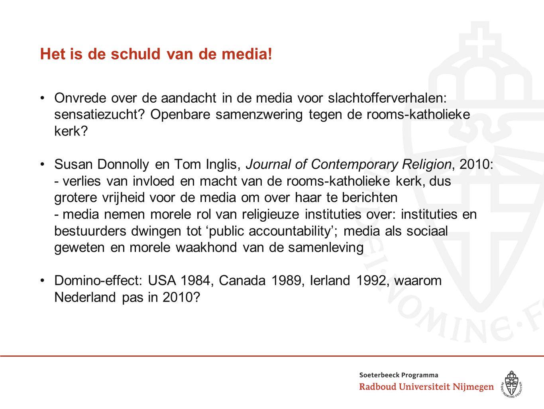 Het is de schuld van de media! Onvrede over de aandacht in de media voor slachtofferverhalen: sensatiezucht? Openbare samenzwering tegen de rooms-kath