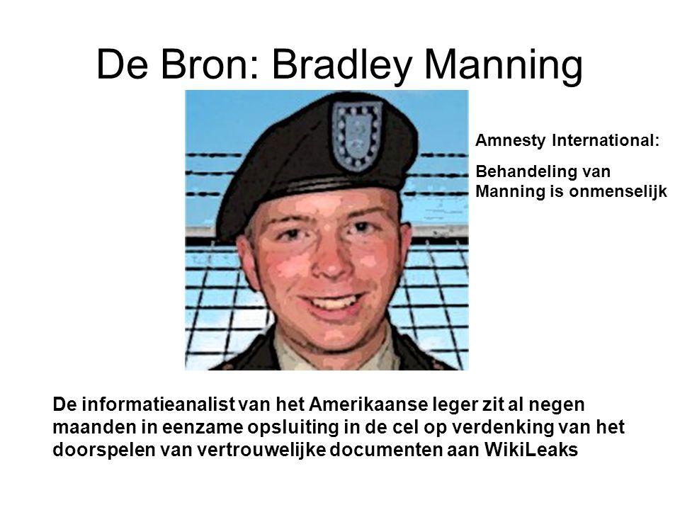 De Bron: Bradley Manning De informatieanalist van het Amerikaanse leger zit al negen maanden in eenzame opsluiting in de cel op verdenking van het doo