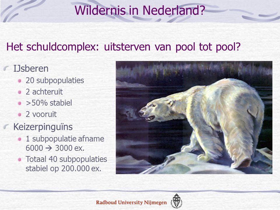 IJsberen 20 subpopulaties 2 achteruit >50% stabiel 2 vooruit Keizerpinguïns 1 subpopulatie afname 6000  3000 ex. Totaal 40 subpopulaties stabiel op 2