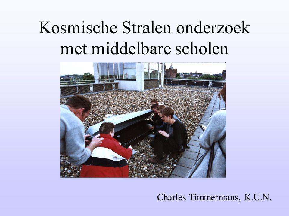 Kosmische Stralen onderzoek met middelbare scholen Charles Timmermans, K.U.N.