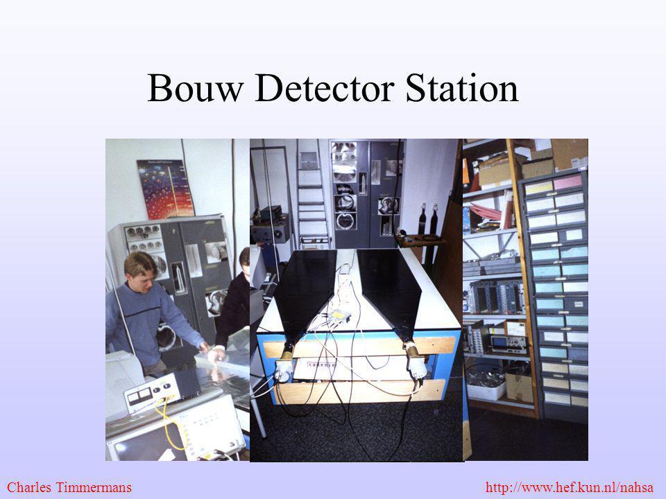 Bouw Detector Station Charles Timmermans http://www.hef.kun.nl/nahsa