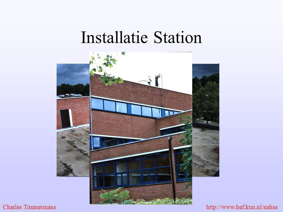 Installatie Station Charles Timmermans http://www.hef.kun.nl/nahsa