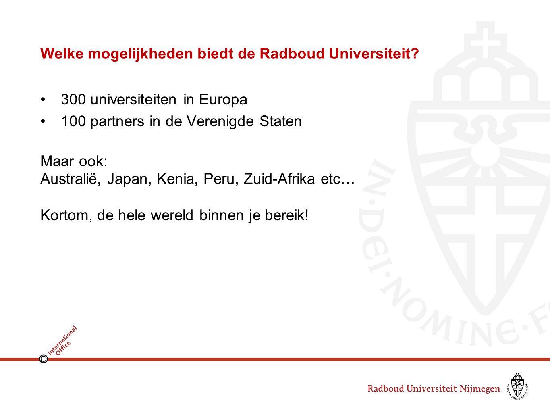 Welke mogelijkheden biedt de Radboud Universiteit.