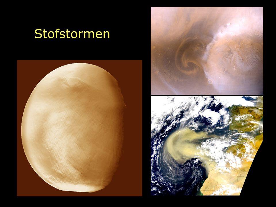 Kelvin-Helmholtz tijdschaal Interne energie van een planeet: U = G M 2 / R Snelheid van uitstraling: lichtkracht L Typische tijdschaal: τ kh = U/L = GM 2 /RL Dit levert voor Jupiter nog steeds genoeg energie op.