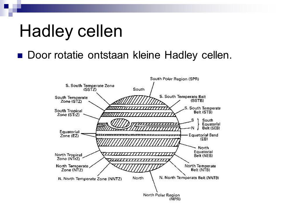 Hadley cellen Door rotatie ontstaan kleine Hadley cellen.