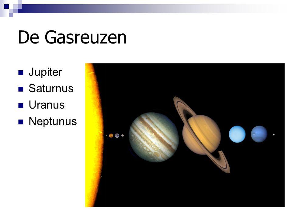 Inwendige van de reuzenplaneten Opbouw een gevolg aanwezige materialen en omstandigheden bij vorming Alle vier de planeten hebben waarschijnlijk rotsige kern.