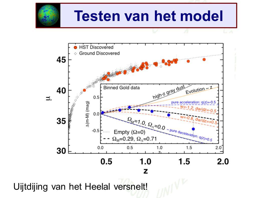Testen van het model Uijtdijing van het Heelal versnelt!