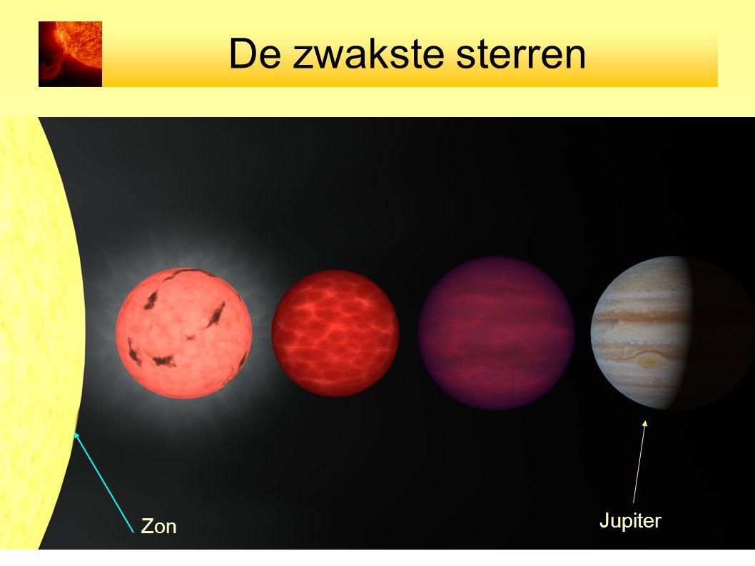 De zwakste sterren Zon Jupiter