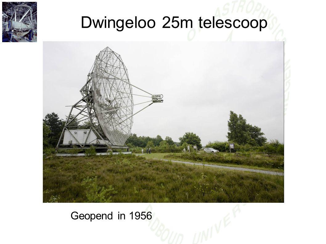 Dwingeloo 25m telescoop Geopend in 1956