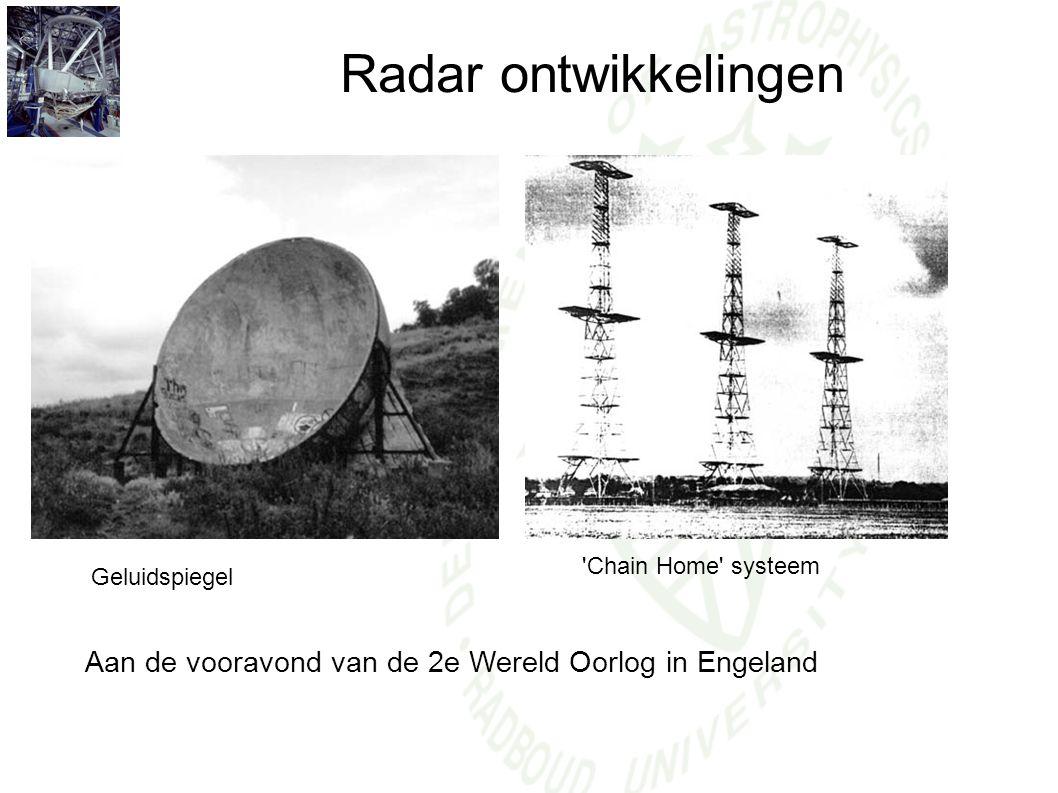 Radar ontwikkelingen Geluidspiegel Aan de vooravond van de 2e Wereld Oorlog in Engeland 'Chain Home' systeem