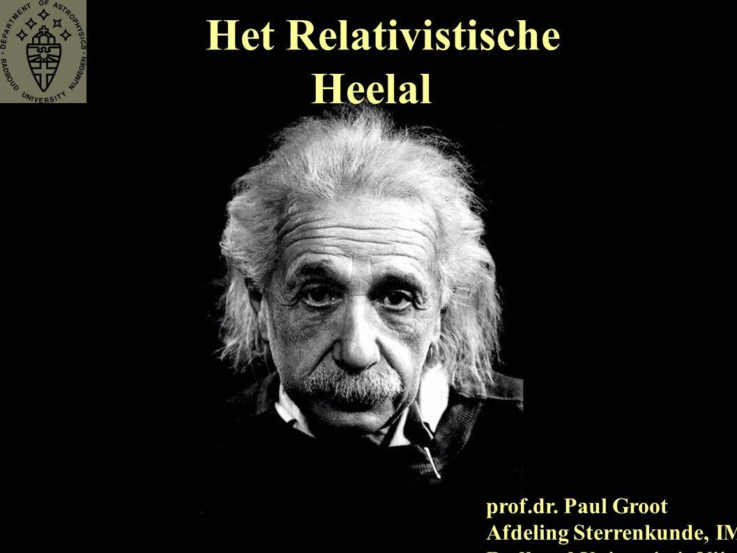 Het Relativistische Heelal prof.dr.