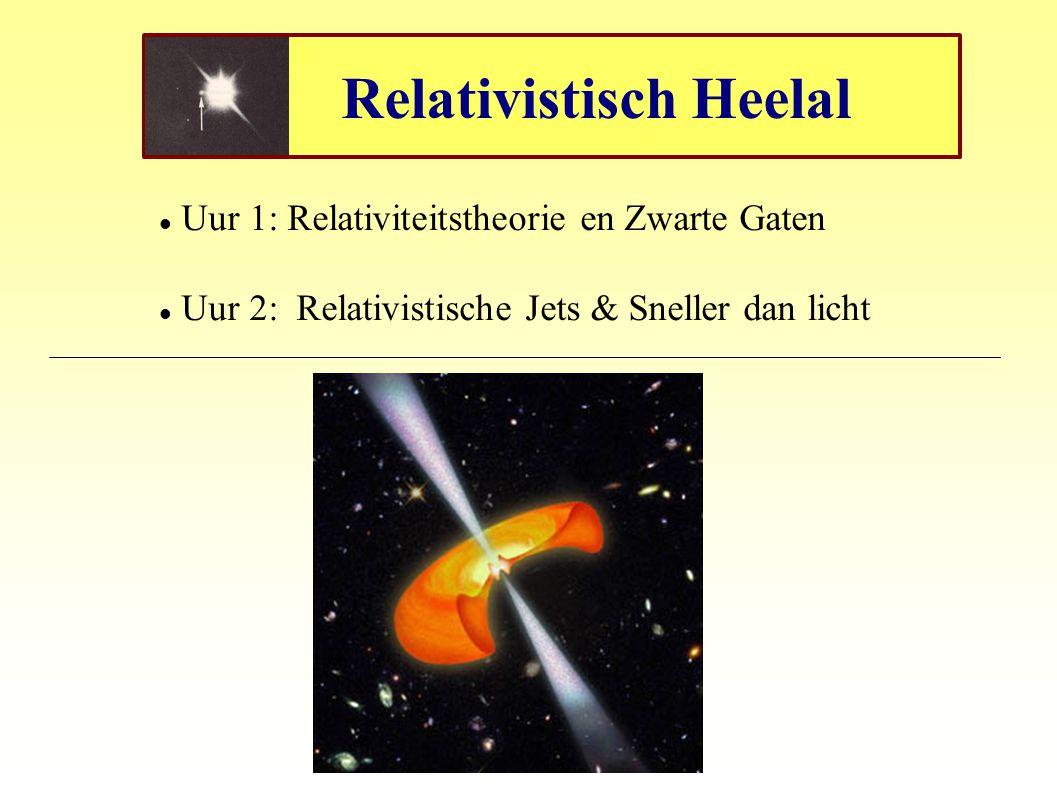 Relativistisch Heelal Uur 1: Relativiteitstheorie en Zwarte Gaten Uur 2: Relativistische Jets & Sneller dan licht