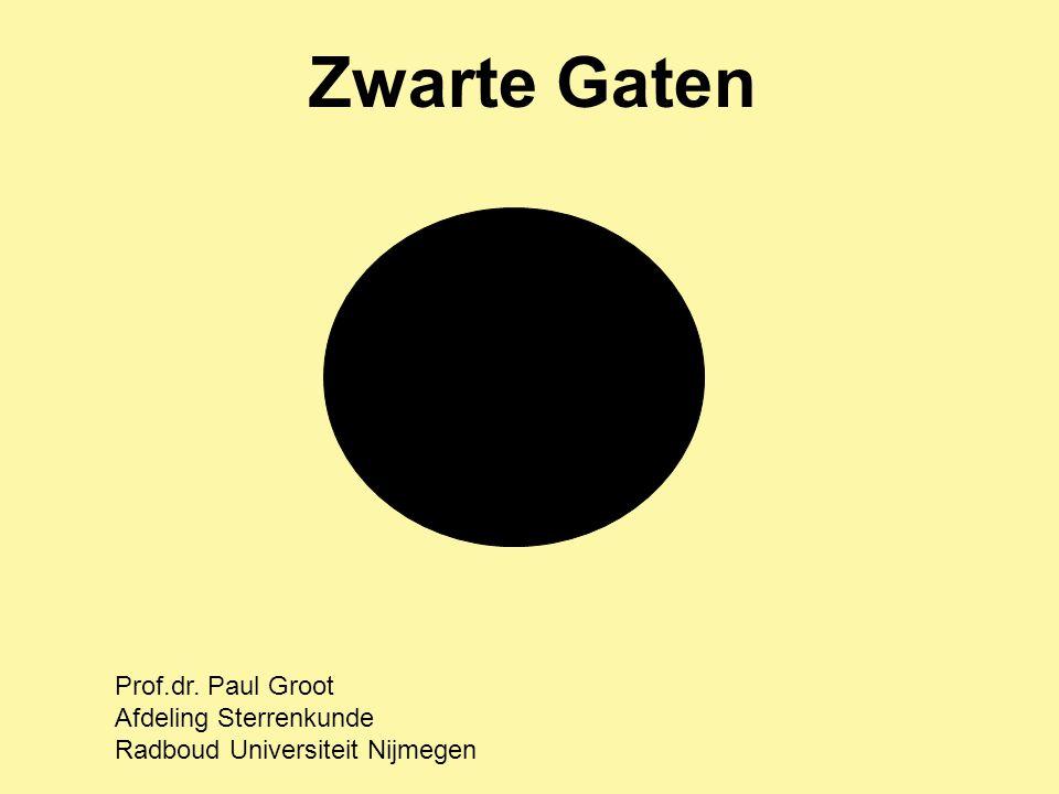 Zwarte Gaten Prof.dr. Paul Groot Afdeling Sterrenkunde Radboud Universiteit Nijmegen