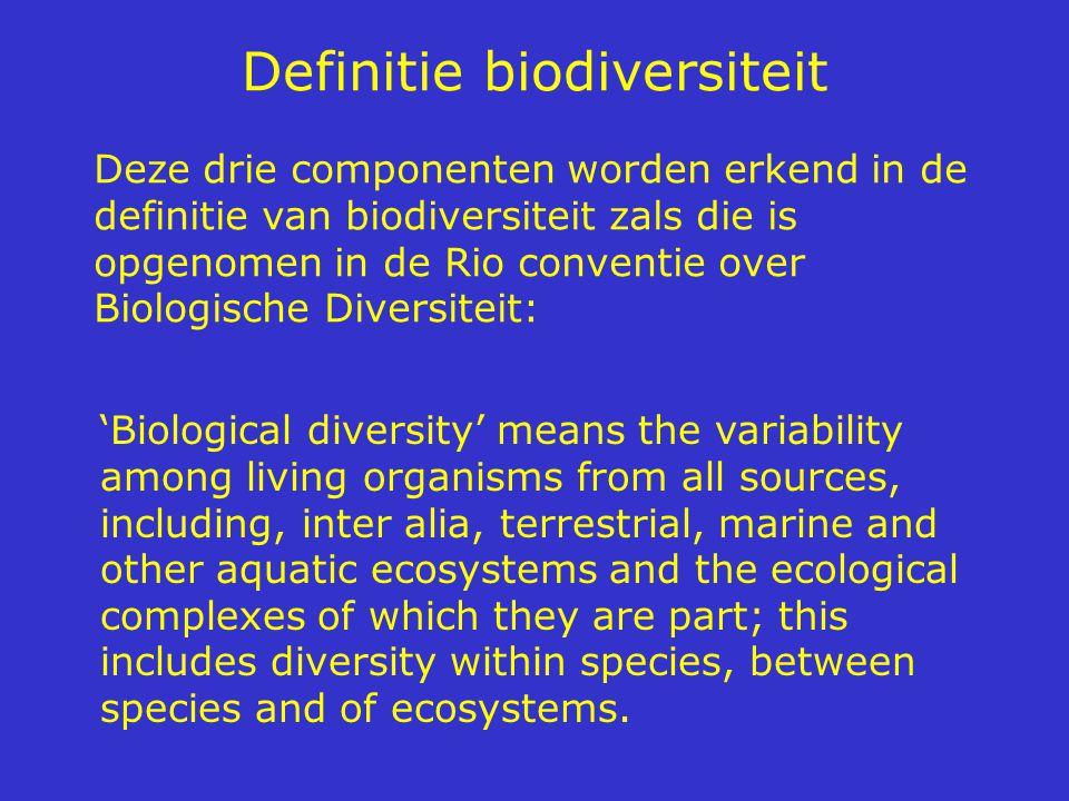 Biodiversiteit over de wereld laag hoog