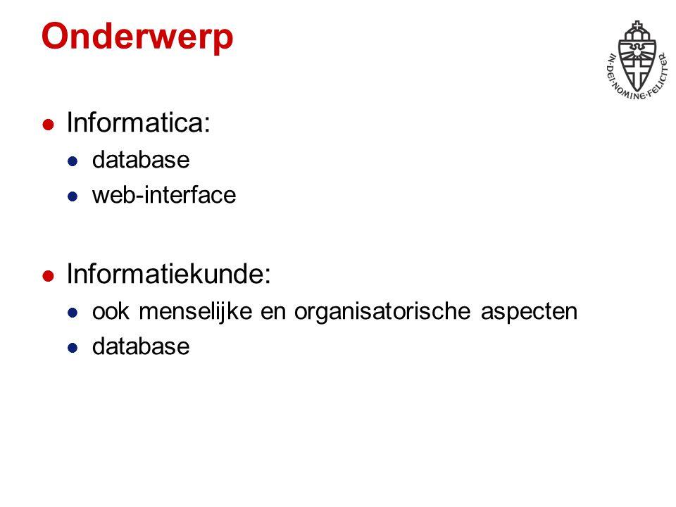 Resultaten Eindproducten software / demonstratiesysteem documentatie, verslag presentatie Tussenproducten omschrijving product / systeem ontwerp tijdplanning logboek