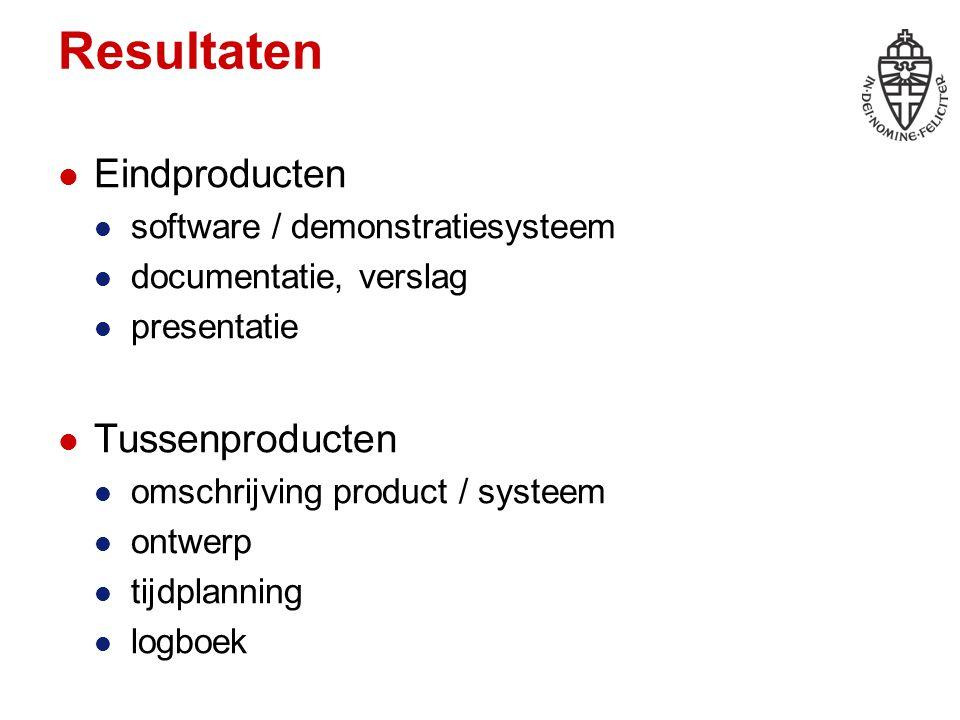 Ideaal systeem (IK) Bedenk een interessant uitdagend systeem database, menselijke aspecten maak je geen zorgen over haalbaarheid Presentatie: context welk probleem lost het op.
