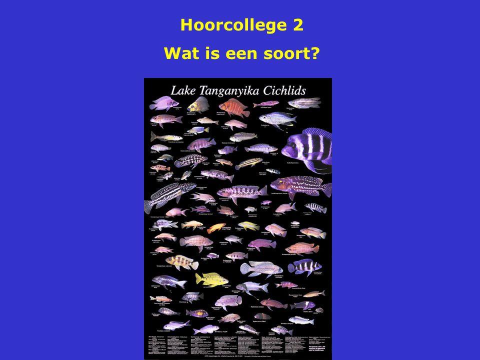 Hoorcollege 2 Wat is een soort?
