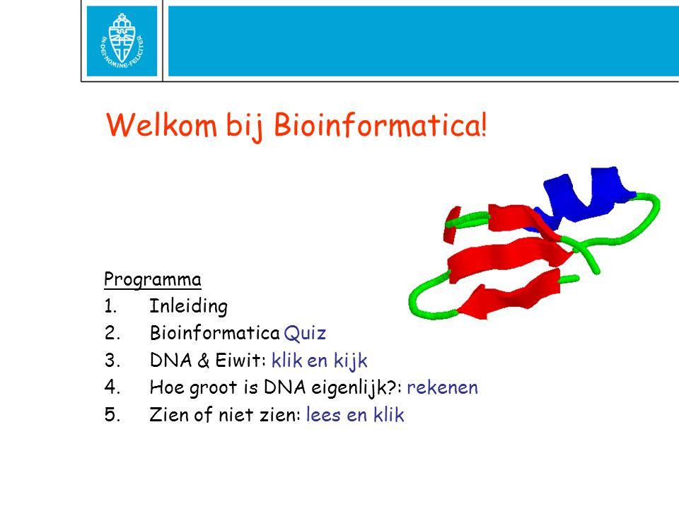 Wat is Bioinformatica.